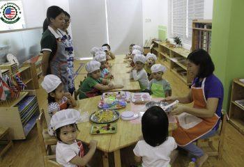 Các bé trường mầm non vui tết trung thu